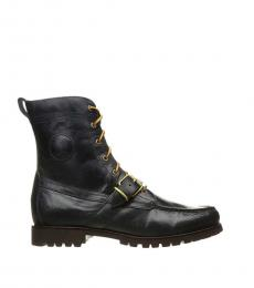Ralph Lauren Black Ranger Leather Boots