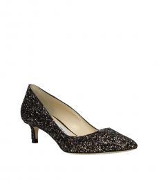 Jimmy Choo Brown Romy Glitter Low Heels