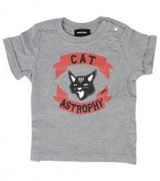 Diesel Baby Boys Grey Cat T-Shirt