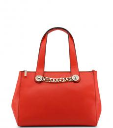 Versace Jeans Red Chain Large Satchel