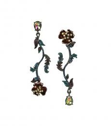 Multi color Surreal Forest Earrings