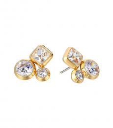 Michael Kors Gold Crystal Cluster Earrings