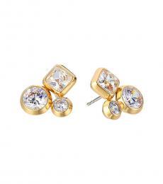 Michael Kors Gold Crystal Cluster Earrings