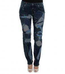 Dolce & Gabbana Dark Blue Patchwork Jeans