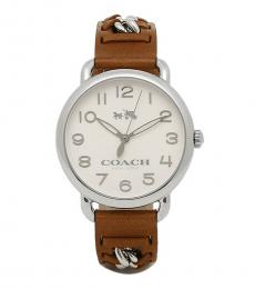 Coach Light Brown Crystal Stylish Watch