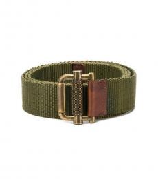 Dsquared2 Green Fabric Modish Belt
