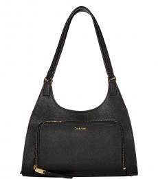 Calvin Klein Black Ava Medium Hobo