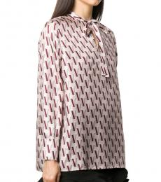 Light Pink Bow Detail Party Shirt