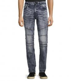 Blue Relaxed Slim-Fit Tapered Jeans