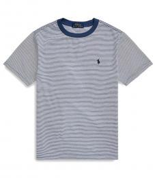 Ralph Lauren Little Boys Federal Blue Striped T-Shirt