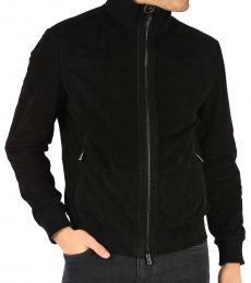Ermenegildo Zegna Black Leather Reversible Jacket