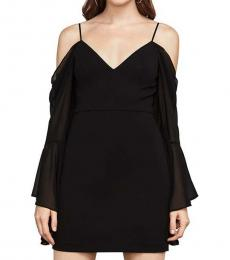 Black Sheer Cold Shoulder Dress