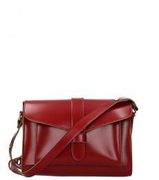 Marni Cherry Solid Medium Messenger Bag