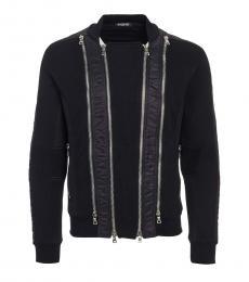 Balmain Black Zipper Detail Pullover