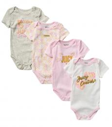 Juicy Couture 5 Piece Bodysuits Set (Baby Girls)