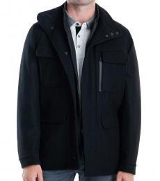 Michael Kors Black Mayfield Field Coat