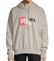 Diesel Grey Alby Logo Hoodie