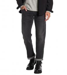 Dark Grey Larkee Straight Leg Fit Jeans