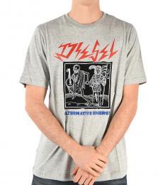 Diesel Grey Printed T-Just T-Shirt