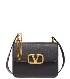 Valentino Garavani Black V Sling Medium Crossbody