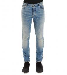 Balmain Blue Vintage Dirty Jeans