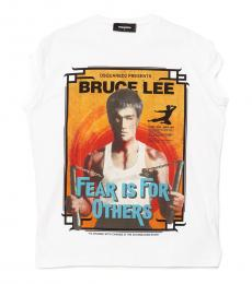 Dsquared2 White Bruce Lee T-Shirt