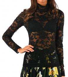 Dolce & Gabbana Black Embroided Lace Top