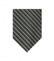 Calvin Klein Black Stitch Stripe Panel Tie