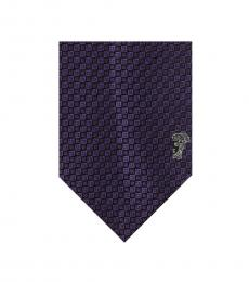 Versace Violet Geometric Tie