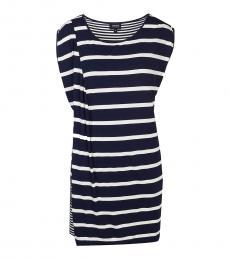 Armani Jeans White Striped Sheath Dress