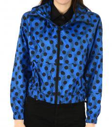 Kenzo Blue Windbreaker Polka Dot Jacket