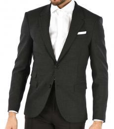 Neil Barrett Dark Grey Single Breasted Slim Fit Blazer