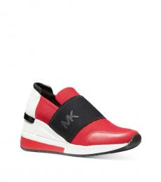 Michael Kors Bright Red Felix Bubble Sneakers