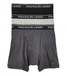Ralph Lauren Dark Grey 3-Pack Classic Boxer Briefs