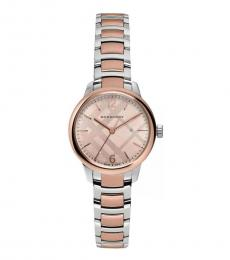 Burberry Rose Gold Two-Tone Watch