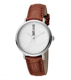 Brown Interchangeable Straps Watch