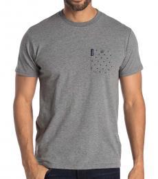 Ben Sherman Grey Polka Dot Pocket T-Shirt