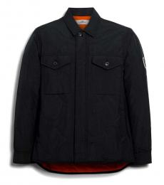 Coach Black Quilted Shirt Jacket