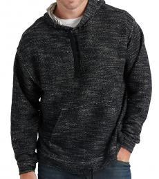Lucky Brand Dark Grey Marled Knitted Hoodie