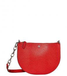 Sporting Red Embossed Sutton Small Crossbody