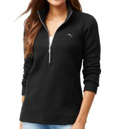 Tommy Bahama Black Aruba Half Zip Pullover