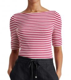 Pink Striped Cotton-Blend Top