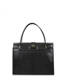 Dolce & Gabbana Black Ingrid Small Satchel