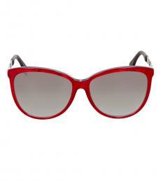 Fendi Red Grey Logo Sunglasses