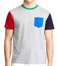 Ralph Lauren Grey Classic Fit Pocket T-Shirt