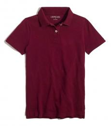 J.Crew Little Girls Vintage Burgundy Uniform Polo
