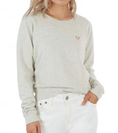 True Religion Heather Oat Logo Crewneck Sweatshirt
