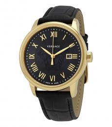 Versace Black Logo Dial Watch