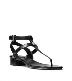 Michael Kors Black Sasha Front Logo Sandals