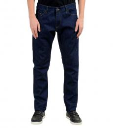 Roberto Cavalli Dark Blue Stretch Slim Jeans